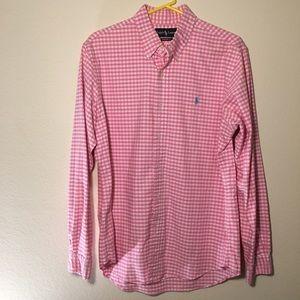 Ralph Lauren polo long sleeve pink button down